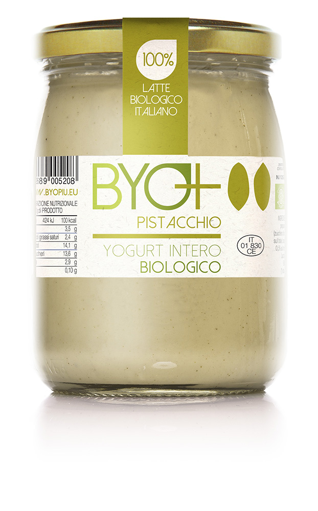 ByoPiu_yogurt intero biologico 500g-pistacchio