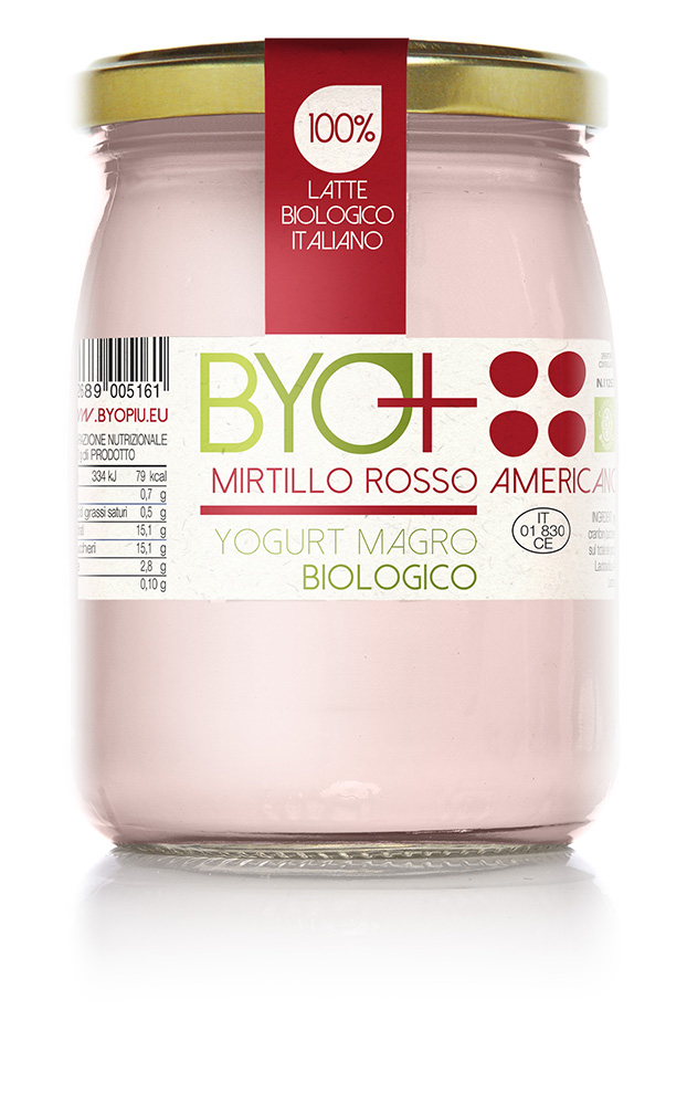 ByoPiu_yogurt magro biologico 500g-mirtillo rosso americano
