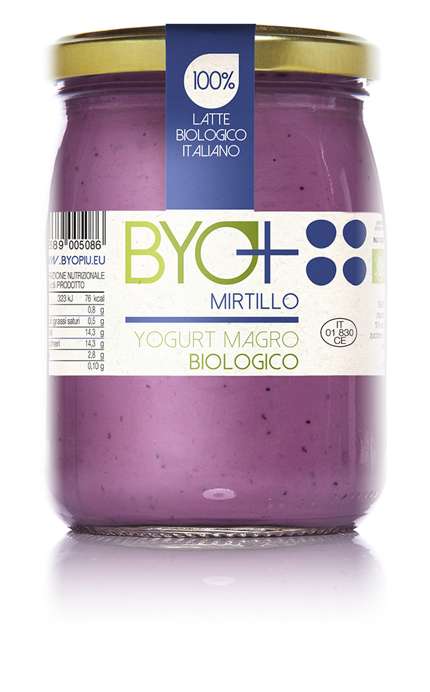 ByoPiu_yogurt magro biologico 500g-mirtillo