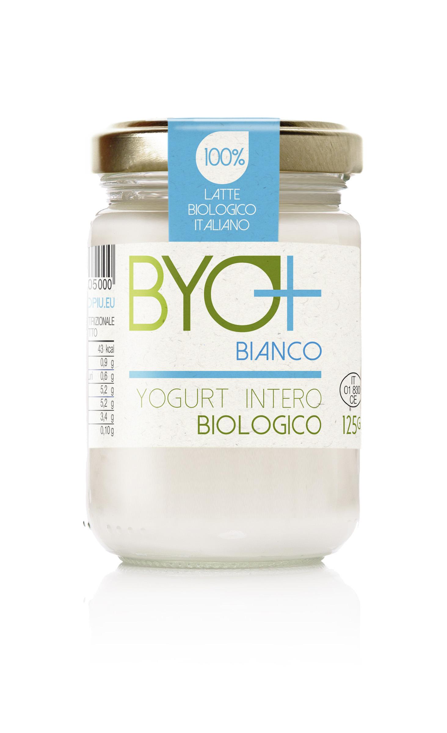 Byo+_Yogurt intero biologico 125g-bianco